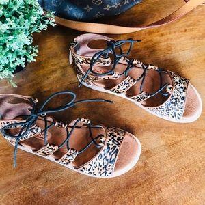 Anthropologie Gee Wawa Gladiator Leather Sandal